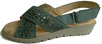 Cushion-Walk Womens Adjustable Velcro Back Strap Sandal in Blue - Rosa (Numeric_3)