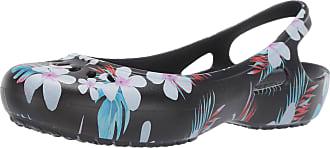 Crocs Womens Kadee Seasonal Slingback Flat Ballet, Black (Tropical Floral/Black), 2 UK