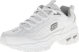Skechers Mens Energy Afterburn Lace-Up Sneaker,White,6 H M US