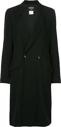 Chanel double-breasted midi coat - Black
