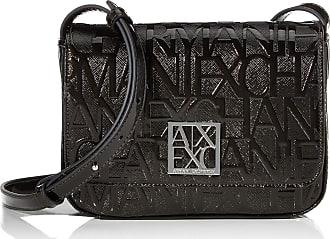 A X Armani Exchange Womens Shiny Liz-Small Shoulder Strap Black (Nero-Black), 5 x 19 x 13 cm