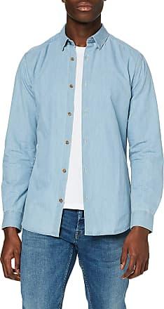 Only & Sons Mens ONSASK LS Chambray Shirt NOOS Casual, Green (Light Blue Denim Light Blue Denim), XL