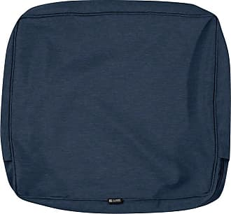 Classic Accessories Montlake FadeSafe 23 x 20 in. Patio Dining Seat Back Cushion Cover Light Charcoal - CAI604-13