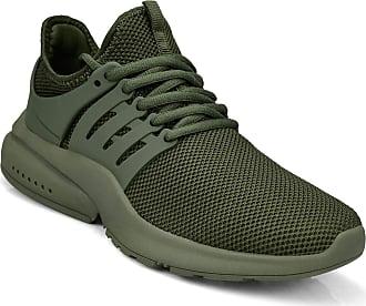 Zocavia Zocavia Womens Mens Trainers Breathable Lightweight Sports Shoes Running Shoes Hiking Shoes Outdoor Shoes 36EU-47EU Green Size: 11 UK