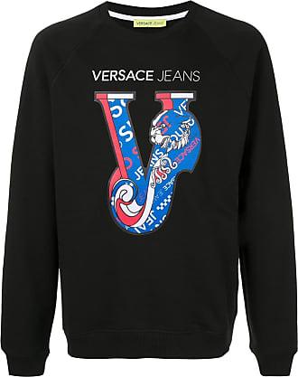 Versace Jeans Couture Blusa de moletom estampada - Preto
