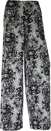 WearAll Plus Size Womens Plain Palazzo Wide Leg Flared Ladies Trousers Pants (Tie Dye Web Print Wide Leg Palazzo UK 16-18 Womens)