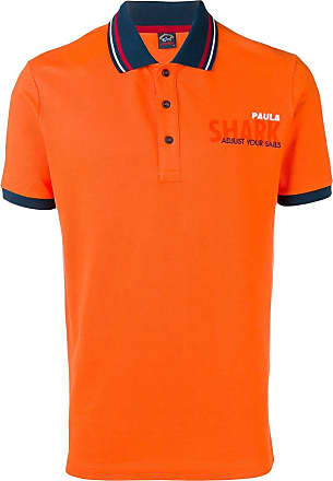 Paul & Shark Camisa polo com estampa de logo - Laranja