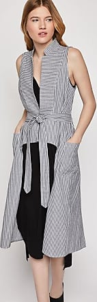 BCBGeneration Railroad Stripe Long Vest