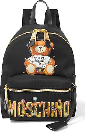 Moschino Printed Shell Backpack - Black
