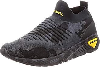 3e299342dd Diesel Mens SKB S-KB ATHL Sock Sneaker Camouflage Black 10.5 M US