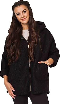 Love my Fashions Carmen Textured Wool Hooded Jacket Black