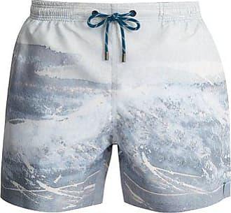 Marané The Splash-print Swim Shorts - Mens - Grey Multi