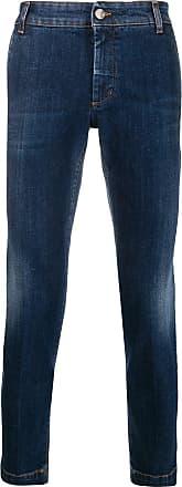 Entre Amis Calça jeans slim com efeito desbotado - Azul