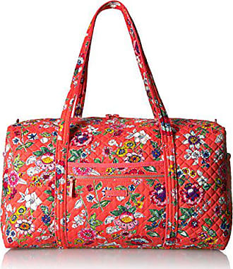 Vera Bradley Womens Iconic Large Travel Duffel-Signature, Coral Floral, One Size