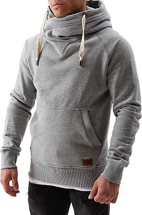 Yazubi Mens Hoody Hooded Sweatshirt Leo Soft Hoodie Sports, Grey (Dapple Gray 163907), XXL