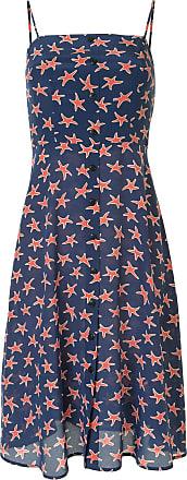 HVN Vestido com estampa de estrela - Azul