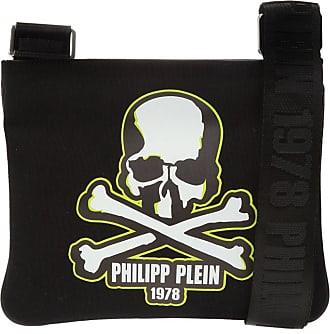 Philipp Plein Skull Branded Shoulder Bag Mens Black