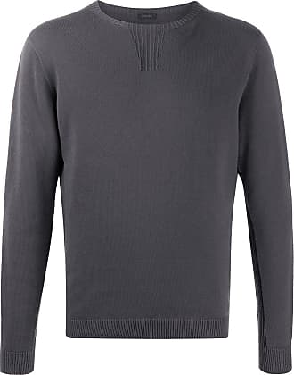 Zanone crew neck cotton jumper - Grey