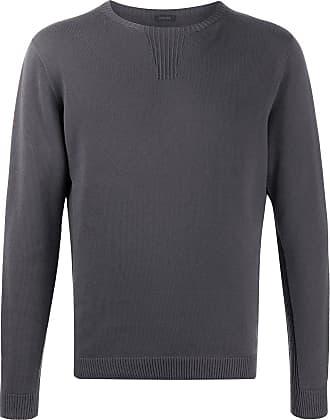 Zanone Suéter decote careca de algodão - Cinza