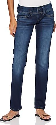 Pepe Jeans London Womens Venus Straight Jeans, Blue (Powerflex Dark Used 000), One (Size: W29/L32)
