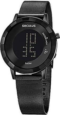 Seculus Relógio Seculus Feminino Ref: 77046lpsvps3 Fashion Digital Black
