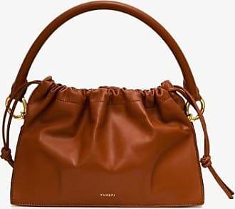 Yuzefi Womens Brown Bom Leather Tote Bag