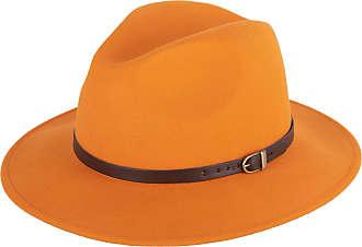Hat To Socks Wool Fedora Felt Trilby Hat (Orange, 59 cm)