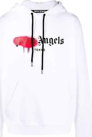 Palm Angels Tokyo sprayed hoodie - White