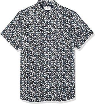 XX-Large Dark Sapphire Car Print Original Penguin Mens Short Sleeve Button Down Shirt