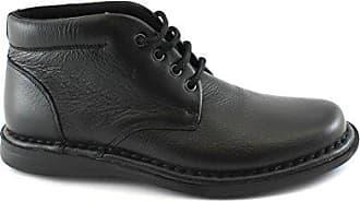 5091555d9c1b3d Frau 38P2 schwarzen Mann Schuhe Mitte Stiefel bequem Schnürsenkel Leder 41