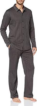 Seidensticker Herren Chambray Pyjama Kurz Zweiteiliger Schlafanzug