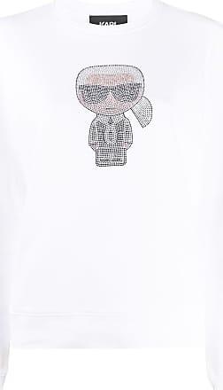 Karl Lagerfeld Moletom K/Ikonik com acabamento canelado - Branco
