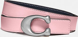 Coach Signature Buckle Reversible Belt, 25mm in Pink - Size L