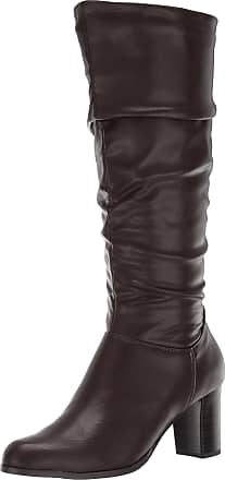 Easy Street Womens Tessla Mid Calf Boot, Dark Brown, 6 XW US