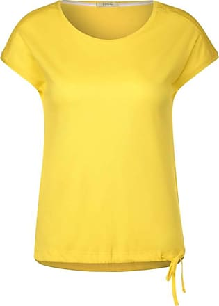 Cecil T-Shirt mit Smok-Detail - radiant yellow