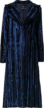 Unreal Fur faux fur midi coat - Blue
