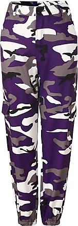 Inlefen Womens Casual Pants Loose Camo Pant Trousers Harem Pants Dance Hip Hop Pants Fashion Leisure Outdoor Sports Woman Long Pants Purple XXL