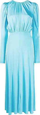 Rotate Vestido evasê com mangas longas - Azul