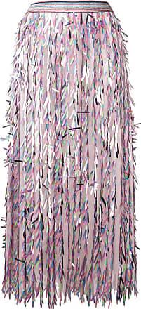 Ultra Chic stencil cut maxi skirt - Pink