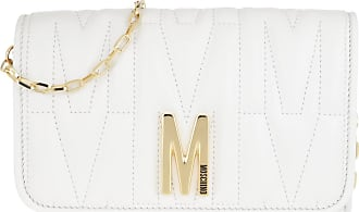 Moschino Cross Body Bags - Chain Wallet White - white - Cross Body Bags for ladies