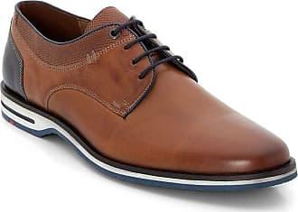 Lloyd Men Business Shoes Diego, Men´s Lace-Up Flats,Low Shoe,lace-up Shoe,Derby Lacing,Suit Shoe,Dress Shoe,Office,Cognac/Pacific,11.5 UK / 46.5 EU