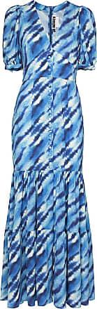 Rotate Vestido longo Thora com estampa - Azul