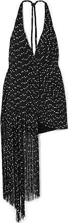 Jacquemus Valoria Wrap-effect Fringed Bouclé Halterneck Mini Dress - Black