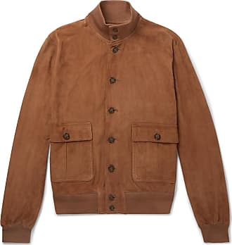 Valstar Valstarino Slim-fit Unlined Suede Bomber Jacket - Tan