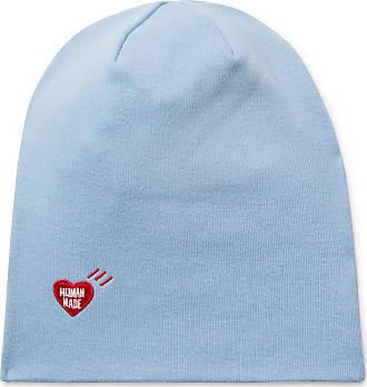 Human Made Logo-appliquéd Cotton Beanie - Light blue