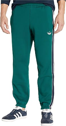 adidas Originals Mens 3-Stripes Panel Tee Pants, Collegiate Green/Legend Ink, S