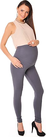 Purpless Maternity Leggings Pregnancy Belly Support Stretchy Long Over Bump Cotton Trousers for Pregnant Women 1050 (18, Graphite)