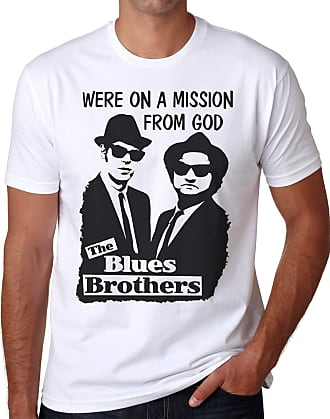 OM3 Blues Brothers - Mission from GOD - T-Shirt Jake and Elwood Blues USA, 4XL, White