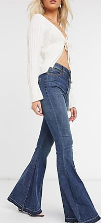 Free People Irreplaceable - Blaue Schlagjeans