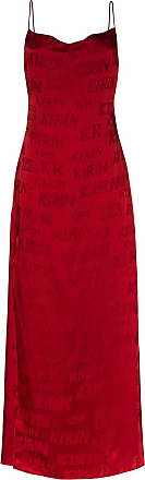Kirin logo-print maxi dress - Red